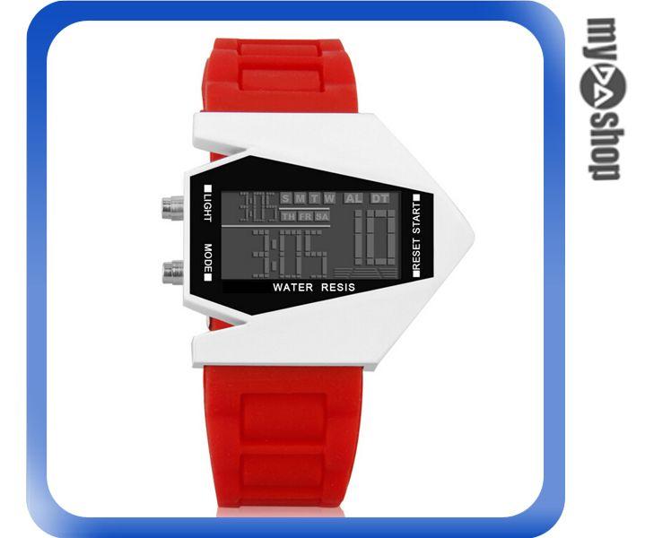 《DA量販店》兒童 LED 飛機 戰鬥機 電子錶 手錶 對錶 紅色(V50-0440)