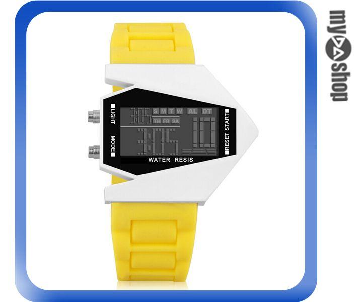 《DA量販店》兒童 LED 飛機 戰鬥機 電子錶 手錶 對錶 黃色(V50-0441)