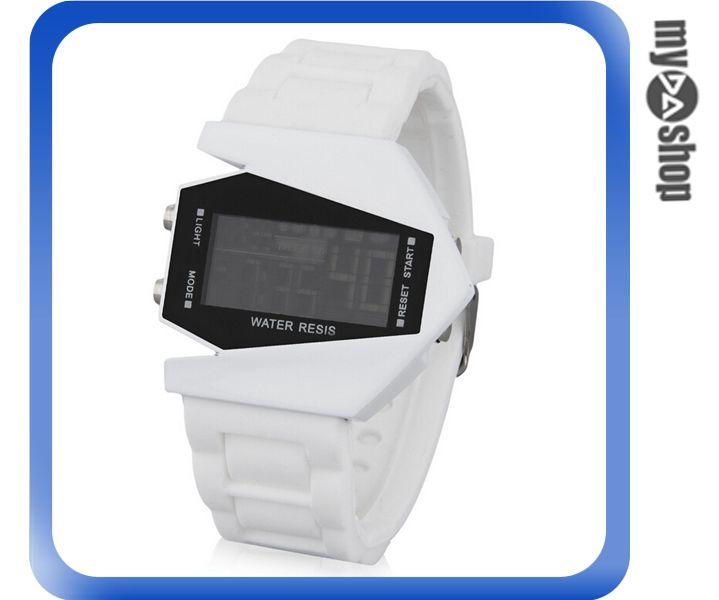 《DA量販店》兒童 LED 飛機 戰鬥機 電子錶 手錶 對錶 白色(V50-0443)