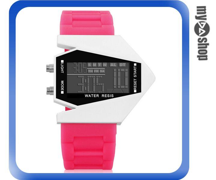 《DA量販店》兒童 LED 飛機 戰鬥機 電子 手錶 情侶錶 桃紅 色(V50-0446)