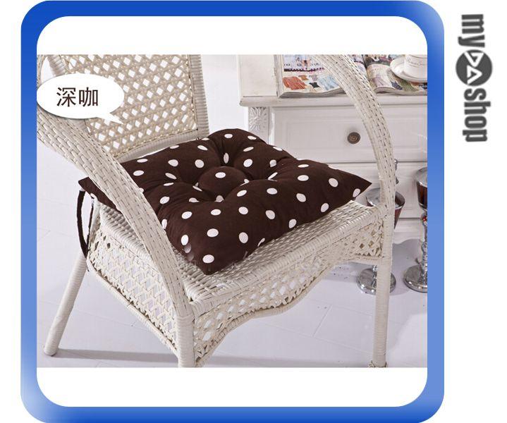 《DA量販店》普普風 圓點 波點 抱枕 靠墊 椅墊 40*40 咖啡色 附真空收納袋(V50-0475)