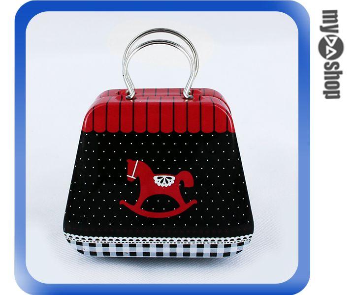 《DA量販店》婚禮小物 喜糖盒 行李箱 手提包 金屬盒 木馬(V50-1043)
