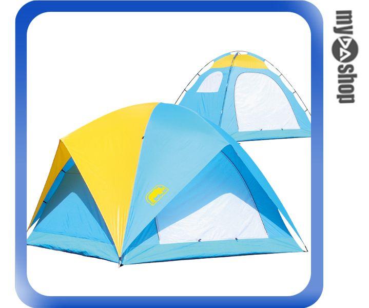 《DA量販店》RHINO 犀牛 戶外 登山 A-065 六人高頂疊帳式 帳篷 (W07-229)