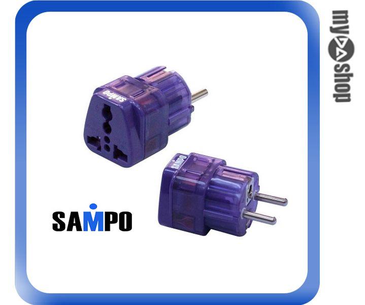 《DA量販店》聲寶 SAMPO 德國 法國 印尼 韓國 轉接頭 雙插座 EP-UH2B(W89-0024)