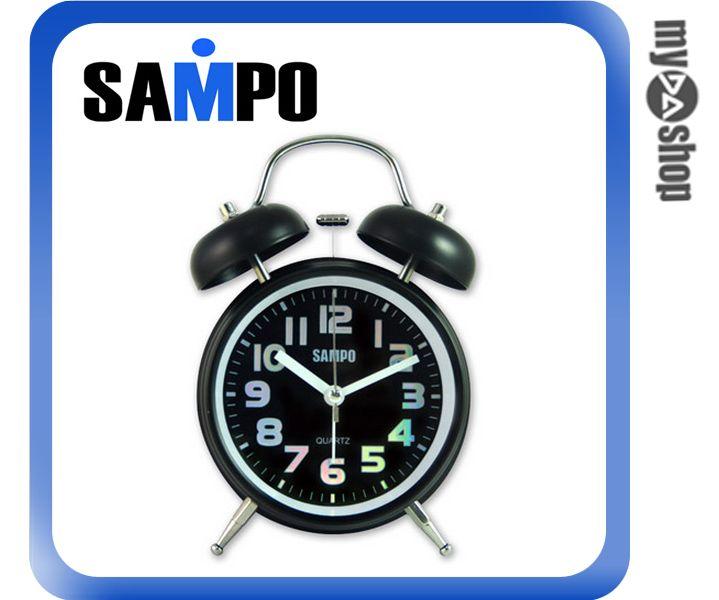 《DA量販店》聲寶SAMPO 復古 圓型 鬧鐘 貪睡 夜燈 PY-Z1207ML 黑色(W89-0078)