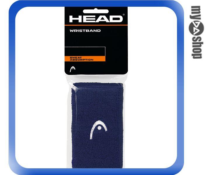 《DA量販店》HEAD 網球 5吋 運動 護腕 深藍色 2個(W92-0051)