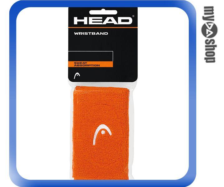 《DA量販店》HEAD 網球 5吋 運動 護腕 橘色 2個(W92-0052)