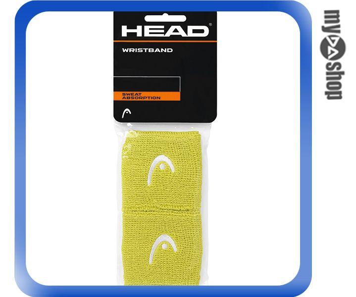 ~DA量販店~HEAD 網球 2.5吋  護腕 綠色 2個^(W92~0056^)