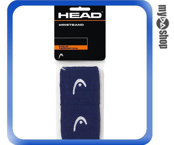 《DA量販店》HEAD 網球 2.5吋 運動 護腕 深藍色 2個(W92-0057)