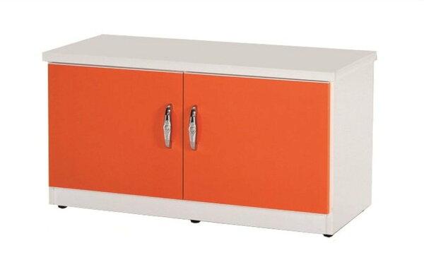 【石川家居】852-05(桔白色)座鞋櫃(CT-306)#訂製預購款式#環保塑鋼P無毒防霉易清潔