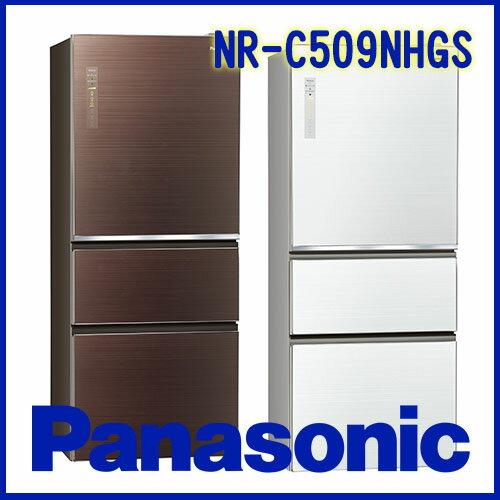 奇博網:Panasonic國際牌500L雙科技無邊框玻璃系列NR-C509NHGSW翡翠白T翡翠棕