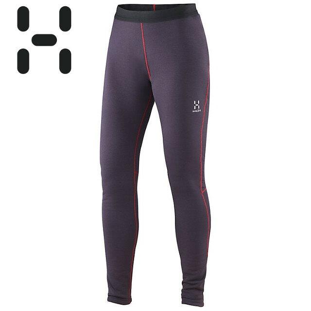 HAGLOFS 彈性刷毛長褲/保暖緊身褲/滑雪內搭Polartec Power Stretch/BUNGY TIGHTS 瑞典 女 603297.3AW 莓果紫