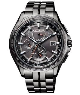 CITIZEN星辰錶AT9097-54E衝鋒時機光動能電波金屬腕錶黑43mm