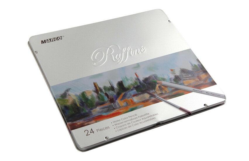 【文具通】MARCO Raffine 馬可水性色鉛筆 7120-24TN 24色鐵盒 請詢問庫存 A13403