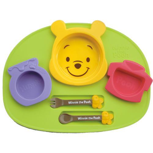 日本製 Disney 迪士尼 小熊維尼造型食物餐盤連碗杯套裝 6件組 兒童餐具*夏日微風*