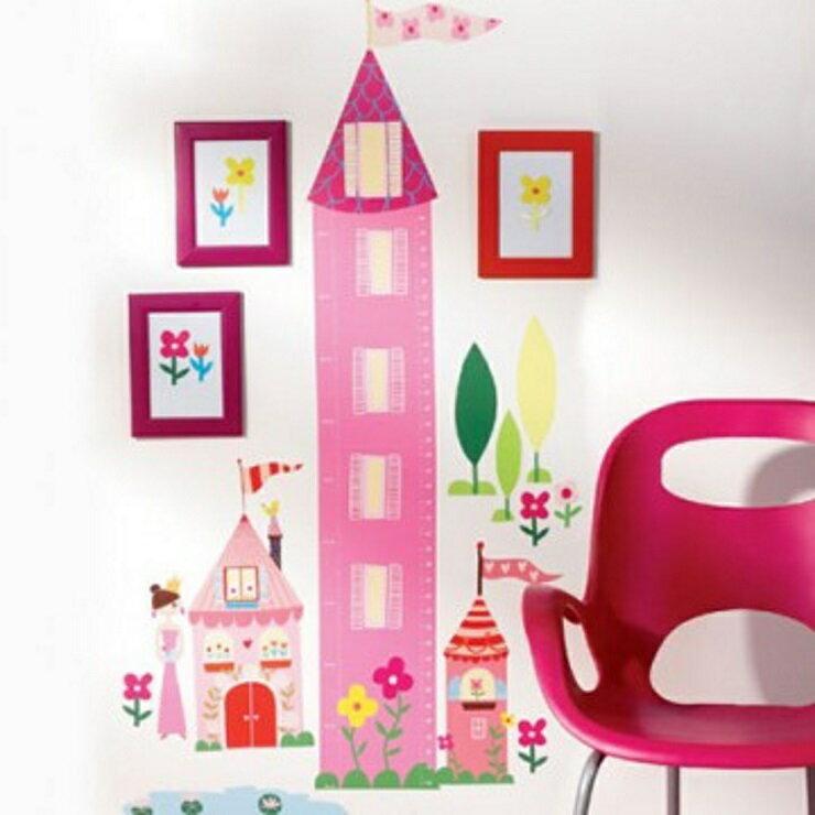 【寶貝樂園】美國Wallies創意輕鬆貼 寶貝身高尺公主城堡