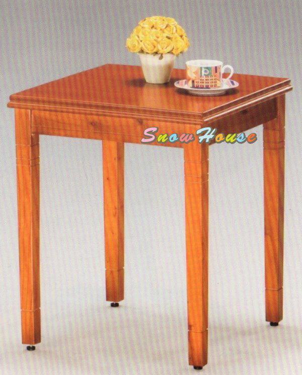 ╭☆雪之屋居家生活館☆╯AA340-03 復古柚木實木腳方形茶几/茶桌/休閒桌/餐桌/咖啡桌