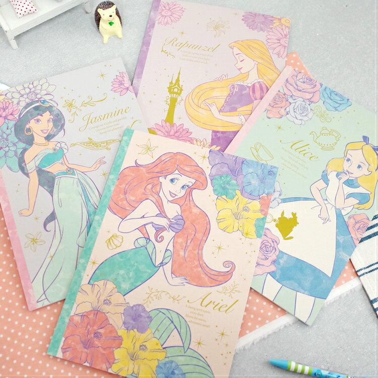 PGS7 迪士尼系列商品 - 迪士尼 公主 花朵 系列 B5 筆記本 愛麗兒 愛麗絲 茉莉 樂佩【SHA7156】