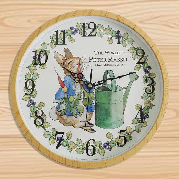 彼得兔時鐘掛鐘壁鐘通販屋居家擺飾靜音大壁鐘108507代購