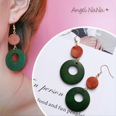 AngelNaNa:耳環《可改耳夾式》《可改S925銀針》復古原木簍空耳鈎【RA0080】