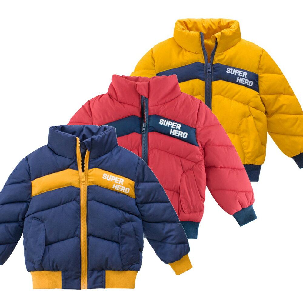 男童撞色拼接鋪棉立領外套 厚外套 外套 男童 鋪棉外套 橘魔法 現貨 童裝【p0061200712203】 0