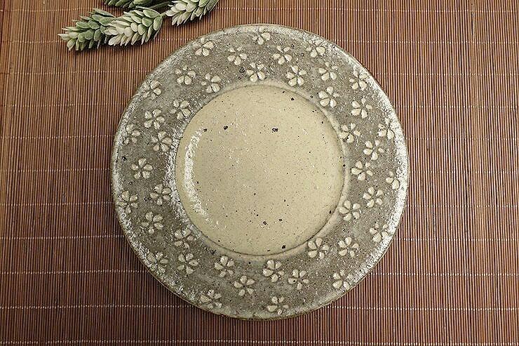 """和雅屋 日式餐具 """"?釉花三島??7.0皿"""" 日本製"""