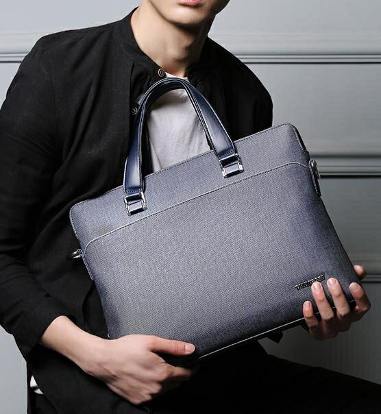 公文包 時尚男包手提包A4商務包斜挎包單肩包公文包男士包包背包SUPER 全館特惠9折
