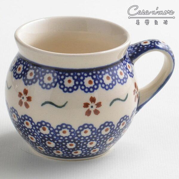 波蘭陶紅點藍花系列胖胖杯馬克杯咖啡杯水杯220ml波蘭手工製
