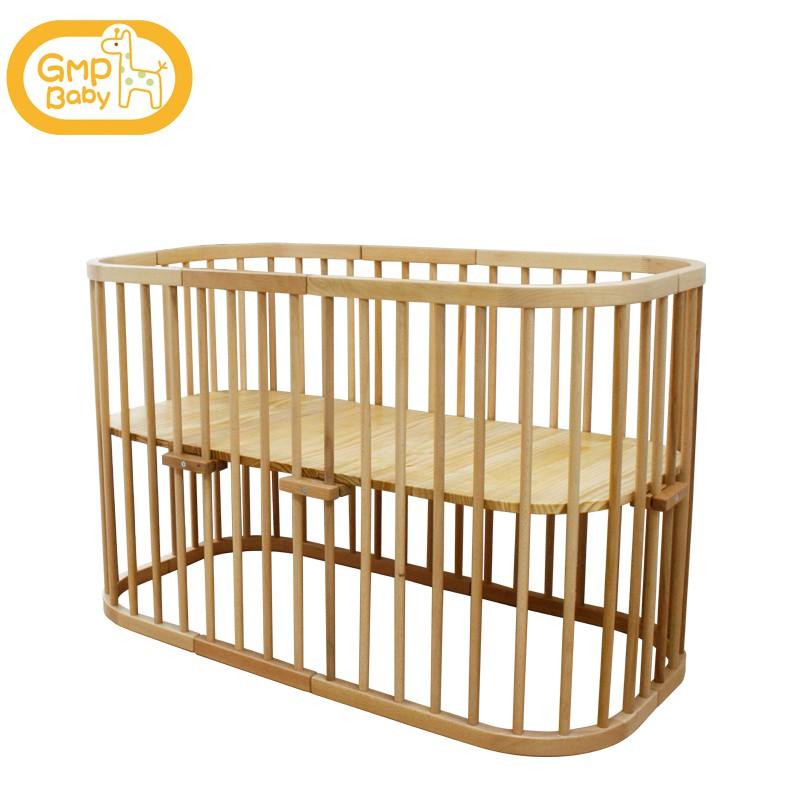 GMP BABY - 橢圓櫸木多功能嬰兒床 1