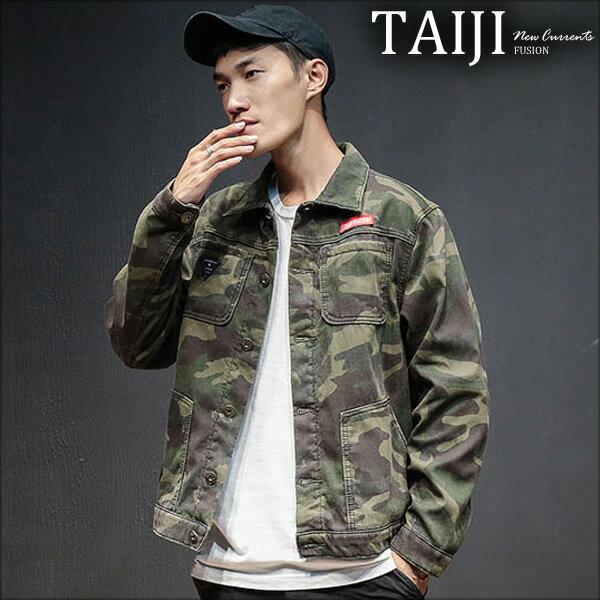 大尺碼工裝外套‧滿版迷彩潮流工裝外套‧一色‧加大尺碼【NTJB906】-TAIJI-