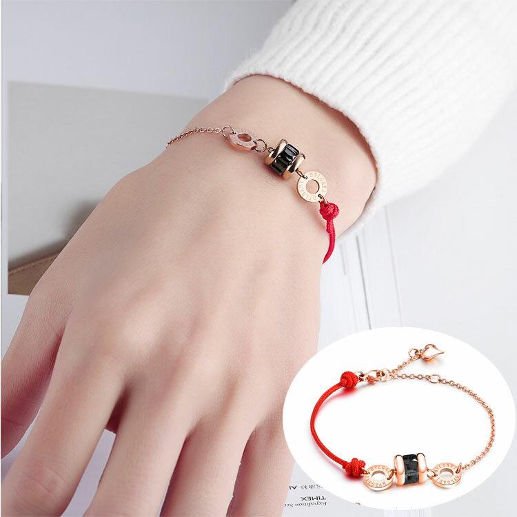 【5折超值價】時尚精美簡約水晶圓餅造型女款手環 0