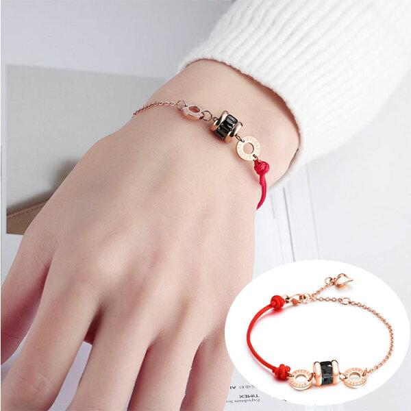 【5折超值價】時尚精美簡約水晶圓餅造型女款手環
