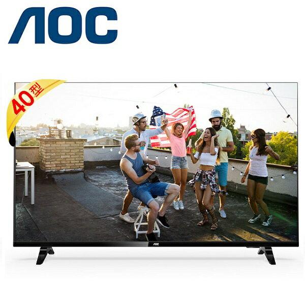 美國 AOC 40吋 40M3395 無邊框液晶顯示器+視訊盒  原廠保固2年