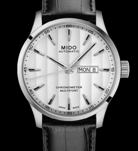 ▶︎MIDO美度◀︎ MULTIFORT先鋒系列 80小時動力儲存天文台腕錶-M0384311603100白/42mm