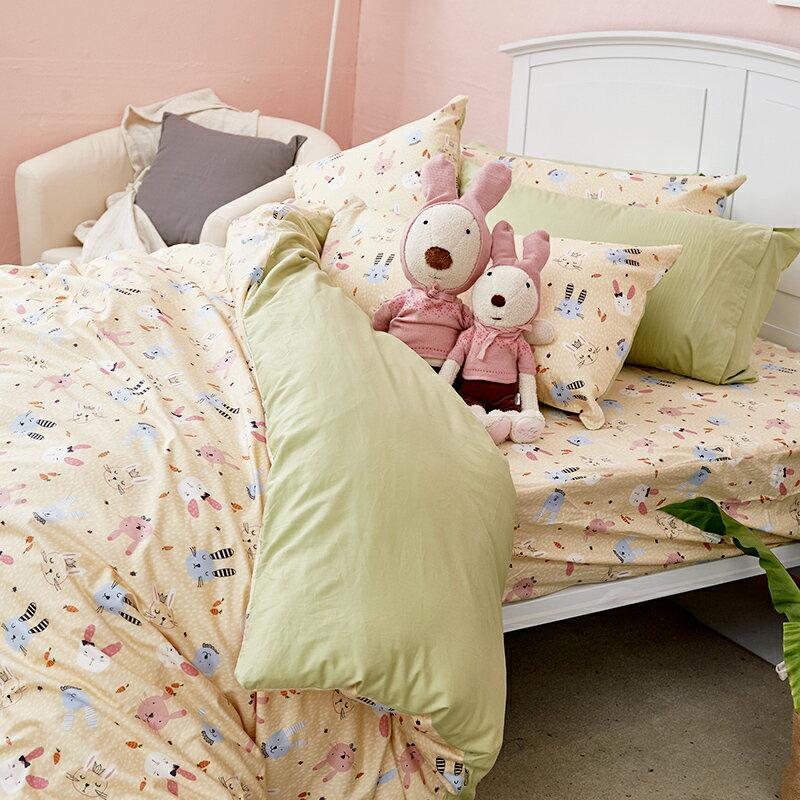 床包  /  雙人-100%精梳棉【妮妮公主】含兩件枕套 戀家小舖 好窩生活節  台灣製 0