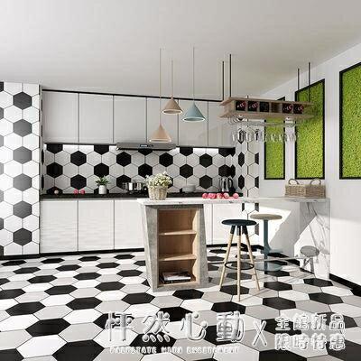 618預售-浴室廚房瓷磚自粘貼紙防油墻紙耐磨翻新衛生間防水地貼防滑地板貼 NMS怦然新品