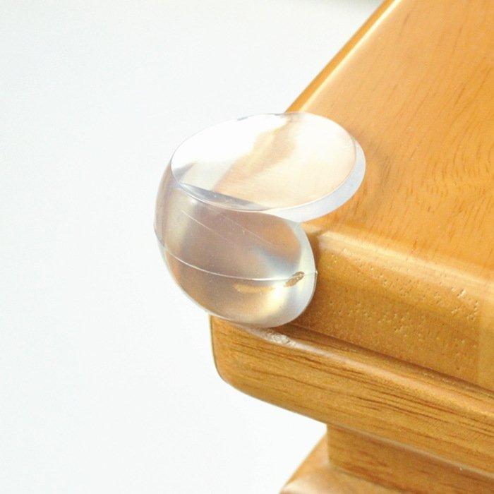 寶寶必備優質Pvc 家庭安全必備-球型防撞角 3*3CM 安全防撞角 防護角 安全桌角 避免寶寶撞傷 附3M雙面膠