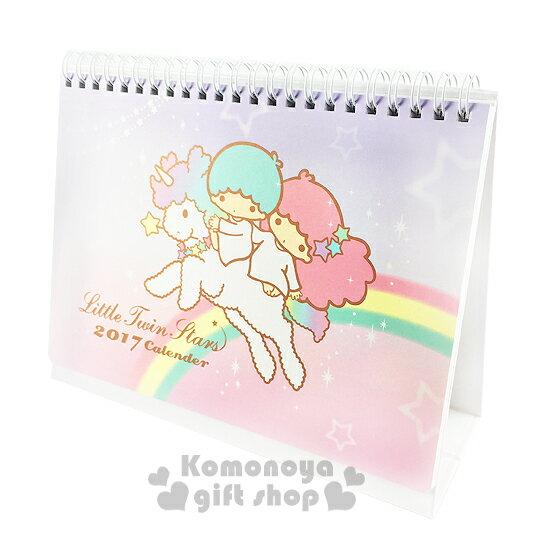〔小禮堂〕雙子星 2017桌上型月曆《M.粉紫.彩虹.獨角獸》桌曆