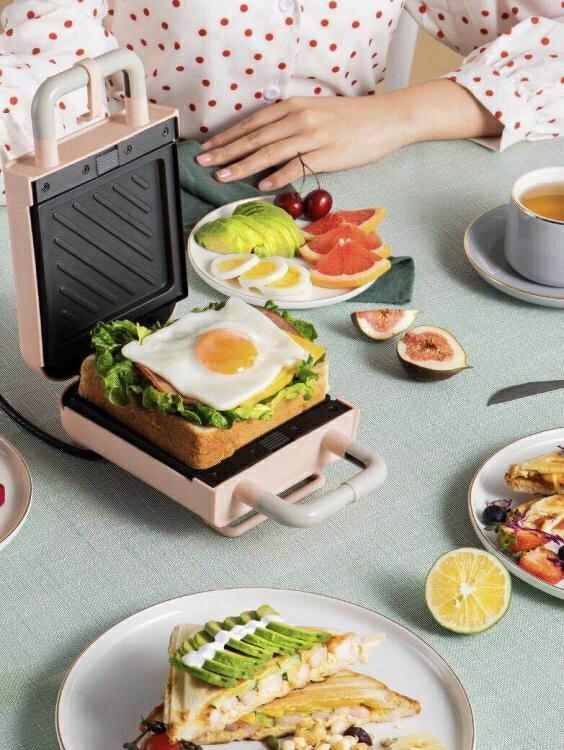 三明治機早餐家用輕食機華夫餅機多功能加熱快吐司壓烤麵包