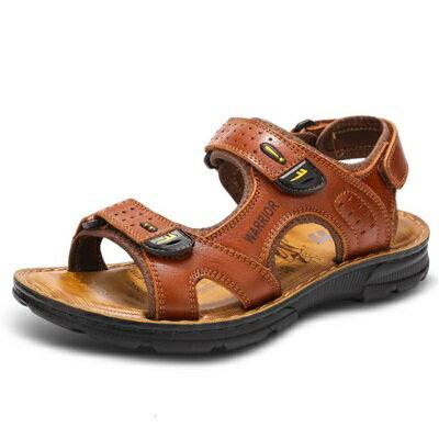 涼鞋真皮拖鞋-夏季精選舒適柔軟男鞋子3色73sa4【獨家進口】【米蘭精品】