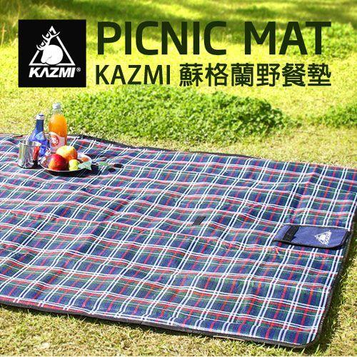 ├登山樂┤韓國KAZMI蘇格蘭野餐墊#K5T3M003