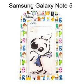 迪士尼透明軟殼 [素描] 史迪奇 Samsung N9208 Galaxy Note 5【Disney正版授權】