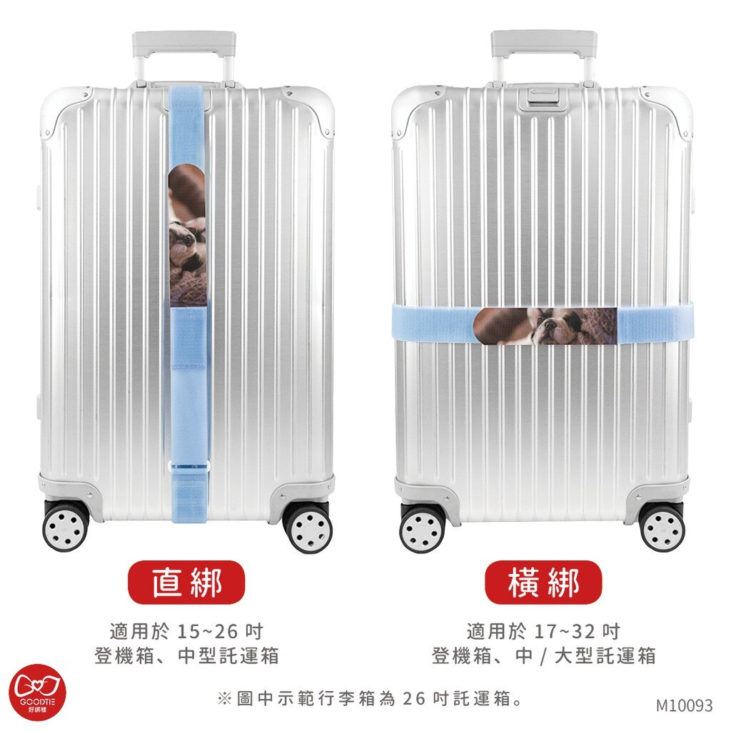 午睡狗狗 可收納行李帶 5 x 215公分 / 行李帶 / 行李綁帶 / 行李束帶【創意生活】