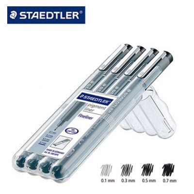 施德樓 MS308WP4 防乾耐水性代針筆4支組 / 盒
