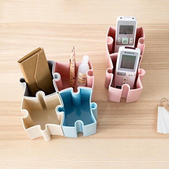 ♚MY COLOR♚可拼接收納整理盒 化妝品 收納桶 桌上 首飾 文具 遙控器 整理盒 居家【P328】