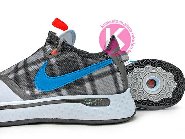 2020 強力登場 全明星球員 Paul George 個人最新簽名鞋款 NIKE PG 4 EP 灰黑藍 格紋 拉鍊 襪套式內靴包覆 全腳掌 AIR 氣墊 籃球鞋 PG4 (CD5082-002) 0220 3