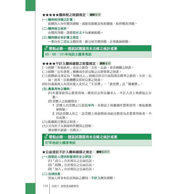 2016全新改版!地政士(專業科目四合一)─強登速成總整理 6