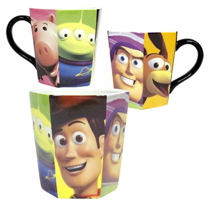 三眼怪 胡迪 巴斯光年 迪士尼 皮克斯 玩具總動員馬克杯六角型 咖啡杯 陶瓷杯 日本進口正版 235200