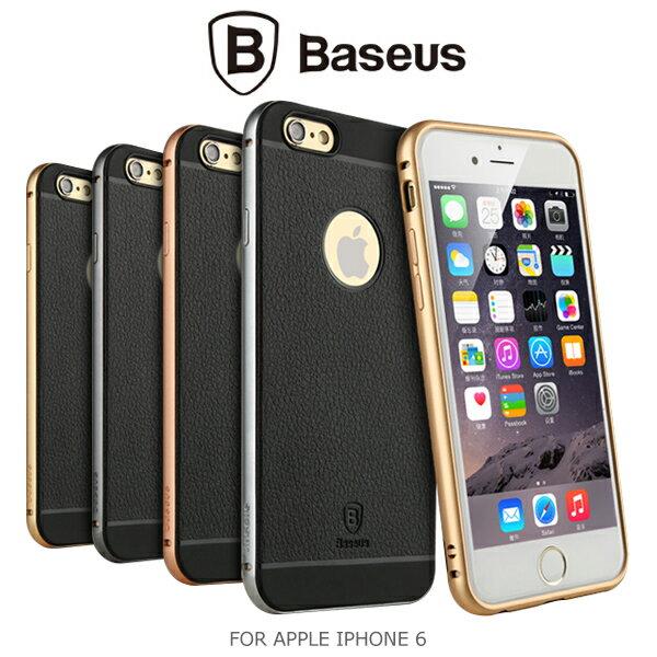 強尼拍賣~ BASEUS 倍思 APPLE iPhone 6 4.7吋 鉑士Pro系列金屬邊框TPU背蓋 質感背蓋
