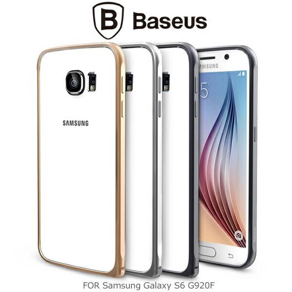 強尼拍賣~ BASEUS 倍思 Samsung Galaxy S6 G920F 弧系列金屬邊框 保護邊框 鋁合金材質